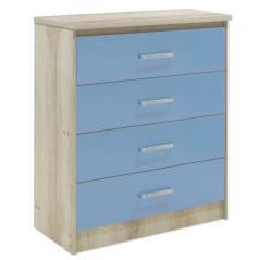 Looney Συρταριέρα παιδική με 4 συρτάρια χρώμα castillo-μπλε 80x40x95 cm