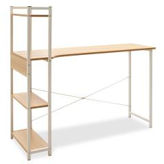 Kadyn Γραφείο αριστερή ραφιέρα oak-λευκό 120x48x73,5/111 cm
