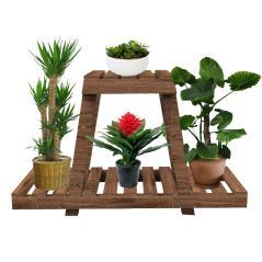 Tisa Ραφιέρα-στάντ φυτών ξύλο καφέ 75x25x49cm