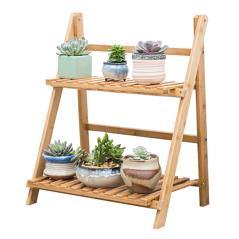 Tisa Ραφιέρα-στάντ φυτών ξύλο φυσικό 50x31x56cm