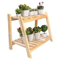 Tisa Ραφιέρα-στάντ φυτών ξύλο φυσικό 60x50x55cm