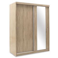Cosmo Ντουλάπα ρούχων δίφυλλη με συρόμενες πόρτες sonoma 160x62x200 cm