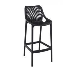 Air/S Σκαμπό (Ύψος Καθίσματος 75cm) PP Μαύρο 53x45x105cm