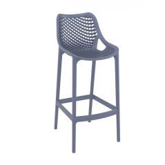 Air/S Σκαμπό (Ύψος Καθίσματος 75cm) PP Ανθρακί 53x45x105cm