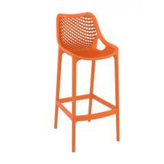 Air/S Σκαμπό (Ύψος Καθίσματος 75cm) PP Πορτοκαλί 53x45x105cm