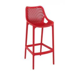 Air/S Σκαμπό (Ύψος Καθίσματος 75cm) PP Κόκκινο 53x45x105cm