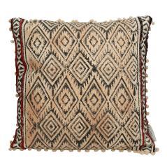 Μαξιλάρι cotton μπεζ/μαύρο tribal σχέδιο 50x50cm