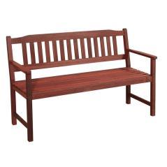 Ξύλινος Καναπές 2 Θέσεων ,120 x 57 x 90(h)cm ,Red Shorea