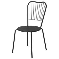 Στοιβαζόμενη Μεταλλική Μαύρη Καρέκλα 45x45x88cm