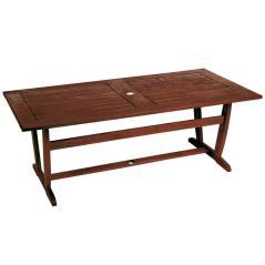 Ξύλινο Παραλ/μο Σταθερό Τραπέζι Kwilla Καφέ 200 x 100cm