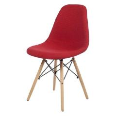 COZY Καρέκλα με ύφασμα Κόκκινο 46x46x83cm
