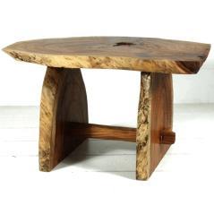 Τραπέζι-μπαρ Καφέ Ξύλο 130x80x80cm (Στήριγμα ποδιού)Υ20cm