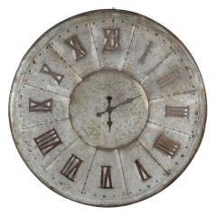 Brass Ρολόι τοίχου Γκρί Μέταλλο 99x99x4cm