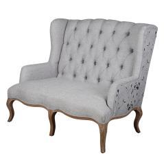 Kendal Διθέσιος καναπές Γκρί Ύφασμα 133x79x111cm