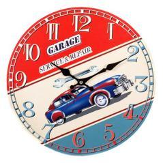 Ρολόι επιτοίχιο Πολύχρωμο MDF 34x3x34cm