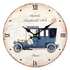 Ρολόι επιτοίχιο Άσπρο MDF 34x3x34cm