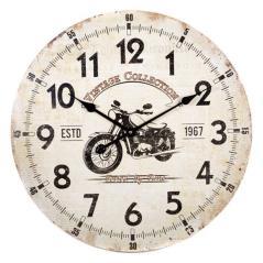 Ρολόι επιτοίχιο Άσπρο MDF 60x3x60cm