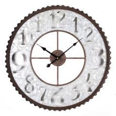 Ρολόι επιτοίχιο Γκρί Μέταλλο 54x5x54cm