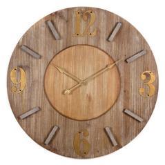 Ρολόι επιτοίχιο Καφέ MDF 54x4x54cm