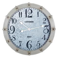 Ρολόι επιτοίχιο Γκρί Μέταλλο 62x6x62cm