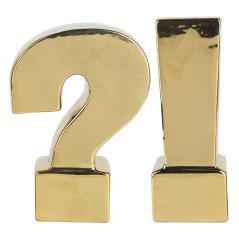 Βιβλιοστάτες Σετ/2 Χρυσό Κεραμικό 16x8x22cm