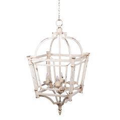 Bird Cage Φωτιστικό οροφής Χρυσό Μέταλλο 45x45x88cm