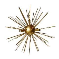 Sun Φωτιστικό οροφής Χρυσό Μέταλλο 66x66x66cm