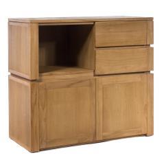 Arturo Κομόδα μικρή με 2 συρτάρια και 2 ντουλάπια Φυσικό Ξύλο 100x45x90cm