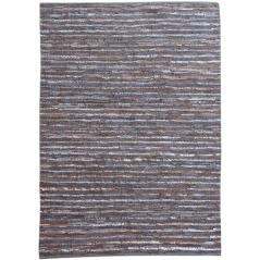 AYANA Χαλί δερμάτινο χρώμα γκρι 120x180cm