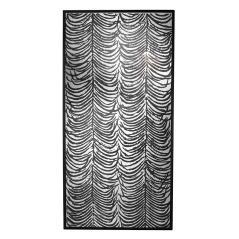 Herero Καθρέπτης διακοσμητικός τοίχου Μαύρο Ξύλο 102x6x203cm