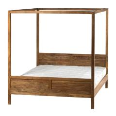 Κρεβάτι ξύλινο διπλό Φυσικό Ξύλο 210x166x181cm (Για στρώμα 160x200)