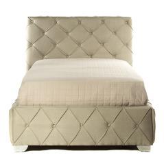 Κρεβάτι μονό καπιτονέ με Γκρί Ύφασμα 100x200cm