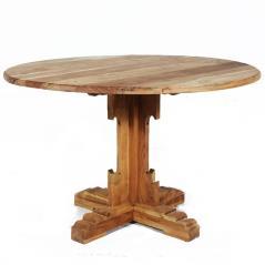 Τραπέζι στρογγυλό Φυσικό Ξύλο 120x120x76cm