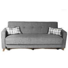 CONRAD Καναπές-κρεβάτι τριθέσιος Γκρι Ύφασμα 218x79x81cm (Κρεβ. 105x192cm)