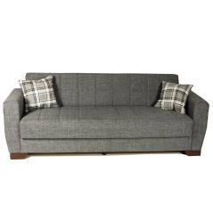 BARATO Καναπές-κρεβάτι τριθέσιος Γκρι Ύφασμα 218x89x71cm (Κρεβ. 103x183cm)