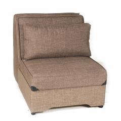 PAERMO Πολυθρόνα κρεβάτι καφέ Ύφασμα 90x120x90cm (Κρεβ. 200x85cm)