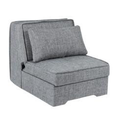 PALERMO Πολυθρόνα κρεβάτι Γκρι Ύφασμα 90x120x90cm (Κρεβ. 200x85cm)