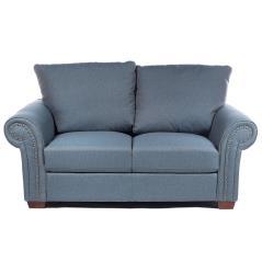 Καναπές διθέσιος με Μπλέ Ύφασμα 172x93x90cm