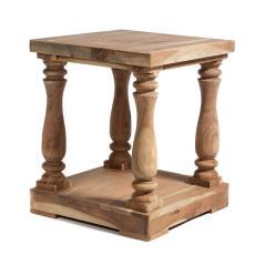 Τραπέζι σαλονιού Καφέ Πατίνα Ξύλο 50x50x60cm