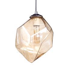Φωτιστικό οροφής ενός λαμπτήρα Χρυσό Γυαλί 20x20x90cm