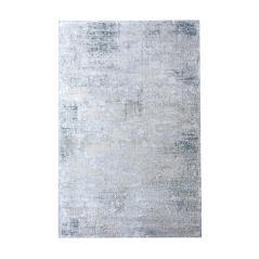 MARKAB Χαλί χρώμα Ασημί/Μπλε Πολυεστέρας 120x170cm