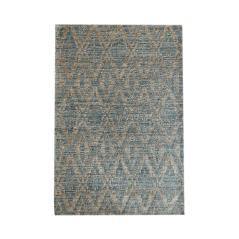 BILINA Χαλί χρώμα Φυσικό/Μπλε Ύφασμα 120x180cm