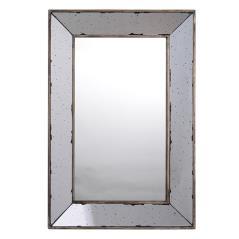 Καθρέπτης τοίχου Χρυσό Μέταλλο,Γυαλί 51x3x31cm