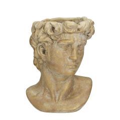 Τσιμεντένιο κασπώ αρχαία προτομή, σε πατίνα χρυσό,23cm   ZAROS