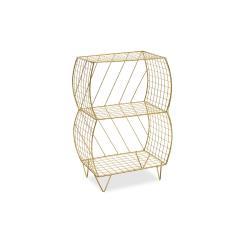 Mambo Βοηθητικό τραπέζι σαλονιού μεταλλικό χρυσό 35x20x51 cm