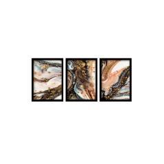 Πίνακας σε ξύλινο πλαίσιο PWF-0461 τρίπτυχο
