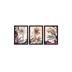 Πίνακας σε ξύλινο πλαίσιο PWF-0465 τρίπτυχο