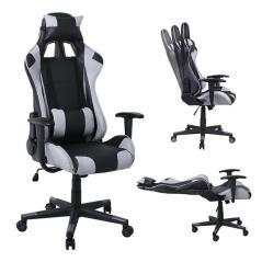 BF8000 Gaming Πολυθρόνα Γραφείου Διευθυντή Pvc Μαύρο - Γκρι 70x67/134x125/135cm