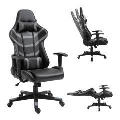BF9050 Gaming Πολυθρόνα Γραφείου Διευθυντή Pu Μαύρο -  Γκρι 67x69x124/134cm