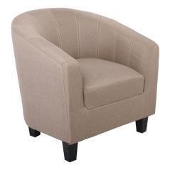 BOGA Πολυθρόνα Σαλονιού Καθιστικού - Ύφασμα Καφέ 72x70x77cm